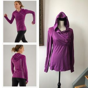Lululemon Run For Your Life hoodie faux wrap sz 10